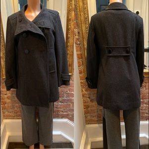 JUSTSWEET| Grey pea coat| M